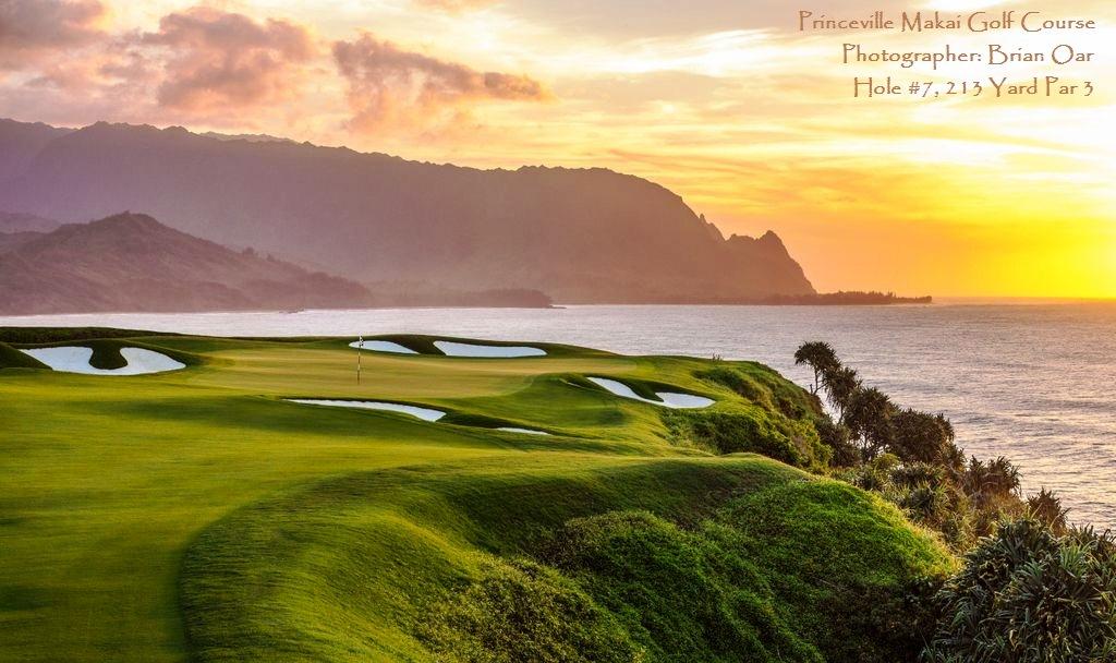 .Princeville Makai Golf Club Hole 7. 2013